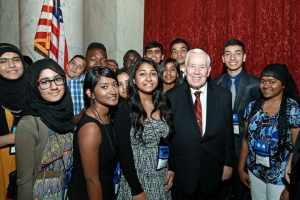 Senator Lugar with participants in the Kennedy-Lugar Youth Exchange & Study Program (Source: yesprograms.org)