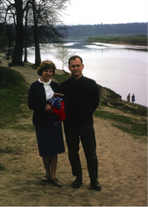 Peter and Mary Jane Bridges at Serebryanyi Bor park, Moscow, 1963