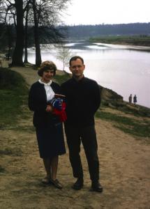 Peter and Mary Jane Bridges at Serebryanyi Bor park, Moscow, 1963