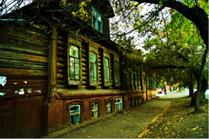 Old houses in Ufa