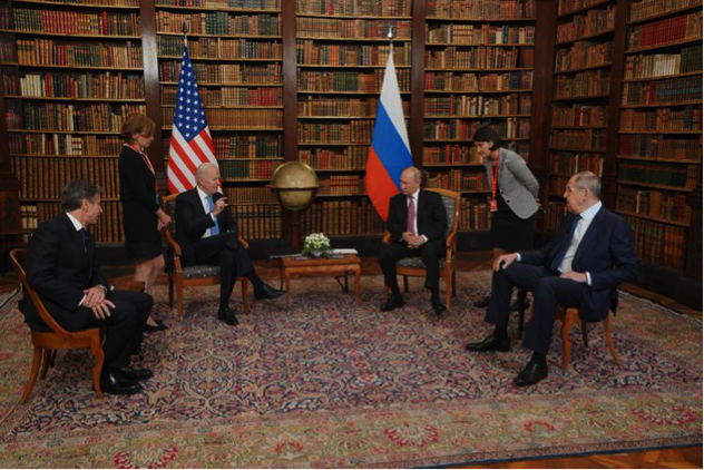 """Following his June 16 meeting with Russian President Putin in Geneva, President Biden noted that """"all foreign policy is a logical extension of personal relationships."""" White House photo"""