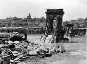 Budapest's Chain Bridge was heavily damaged in World War II