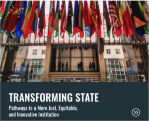 Report cover: Transforming State